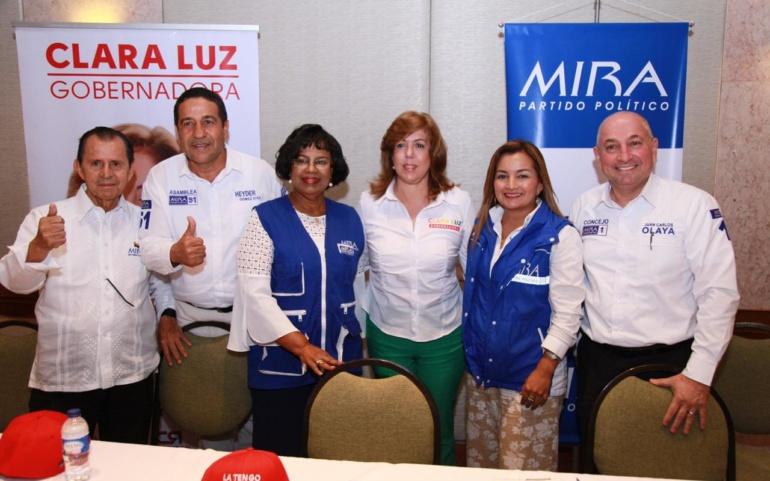 El empleo, la cultura y la libertad religiosa, la fuerza que une al Partido Mira con Clara Luz